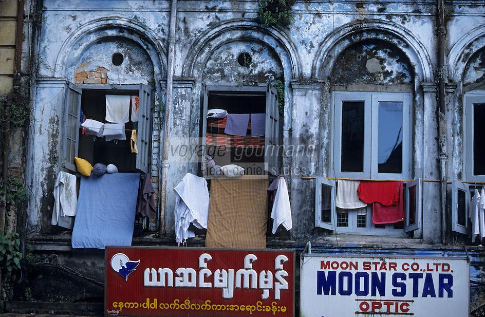 Asie/Birmanie/Myanmar/Yangon: Anawrahta Street