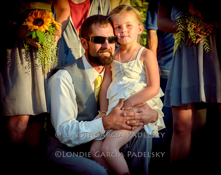 Father and daughter at wedding. Avila Valley Barn