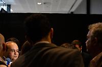 Brasilia (DF) 20/02/2019 - Encontro / Governadores / Brasilia -   O governador do Distrito Federal, Ibaneis Rocha, durante entrevista antes de participar do Fórum de Governadores, no Centro Internacional de Convenções do Brasil, nesta quarta, 20. (Foto: Ed Ferreira / Brazil Photo Press)