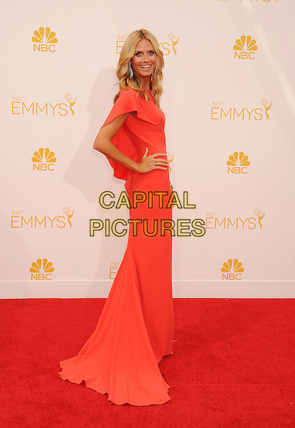 LOS ANGELES, CA- AUGUST 25: TV personality/model Heidi Klum arrives at the 66th Annual Primetime Emmy Awards at Nokia Theatre L.A. Live on August 25, 2014 in Los Angeles, California.<br /> CAP/ROT/TM<br /> &copy;Tony Michaels/Roth Stock/Capital Pictures