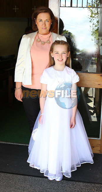 Grace Markey with her mam Cora on communion day in Julianstown.