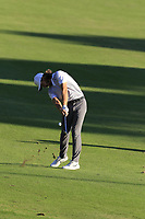 Tommy Fleetwood (ENG) plays his 2nd shot on the 18th hole during Thursday's Round 1 of the 2018 Turkish Airlines Open hosted by Regnum Carya Golf &amp; Spa Resort, Antalya, Turkey. 1st November 2018.<br /> Picture: Eoin Clarke | Golffile<br /> <br /> <br /> All photos usage must carry mandatory copyright credit (&copy; Golffile | Eoin Clarke)