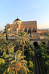 Raised angle view of Great Mosque, Mezquita cathedral, former mosque building, Cordoba, Spain