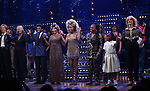 """Charlie Franklin, Phyllida Lloyd, Daniel J. Watts, Tina Turner, Adrienne Warren and Katori Hall with cast during the """"Tina - The Tina Turner Musical"""" Opening Night Curtain Call at the Lunt-Fontanne Theatre on November 07, 2019 in New York City."""