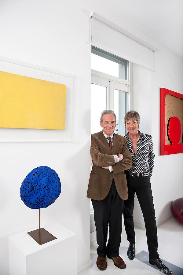 Mrs. and Mr. Olgiati, Art collectors, Lugano, Switzerland