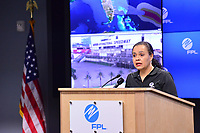Press conference at the FPLCC media room to prepare for 2019 Hurricane Dorian in Riviera, Fla. on August 31, 2019.
