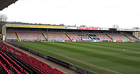 A general view of Sincil Bank, home of Lincoln City FC<br /> <br /> Photographer Andrew Vaughan/CameraSport<br /> <br /> The EFL Sky Bet League Two - Lincoln City v Northampton Town - Saturday 9th February 2019 - Sincil Bank - Lincoln<br /> <br /> World Copyright &copy; 2019 CameraSport. All rights reserved. 43 Linden Ave. Countesthorpe. Leicester. England. LE8 5PG - Tel: +44 (0) 116 277 4147 - admin@camerasport.com - www.camerasport.com