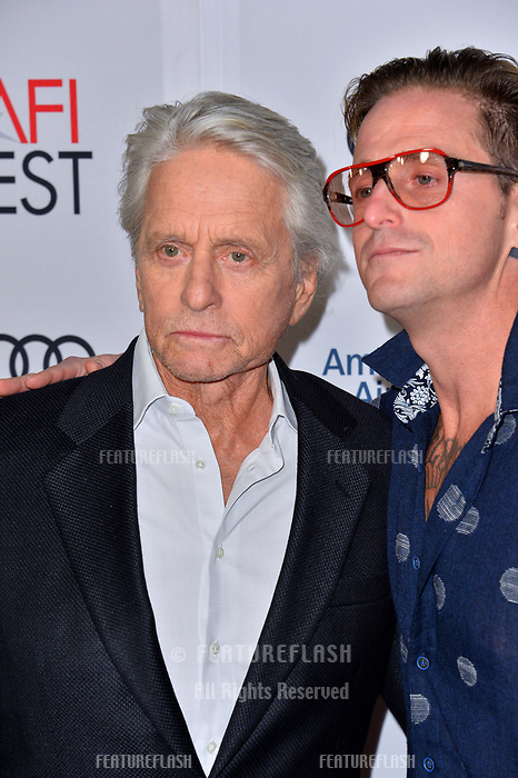 "LOS ANGELES, CA. November 10, 2018: Michael Douglas & Cameron Douglas at the AFI Fest 2018 world premiere of ""The Kominsky Method"" at the TCL Chinese Theatre.<br /> Picture: Paul Smith/Featureflash"