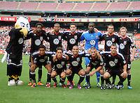 DC United starting elven.  Houston Dynamo tied DC United 2-2, at RFK Stadium, Saturday June 25, 2011.