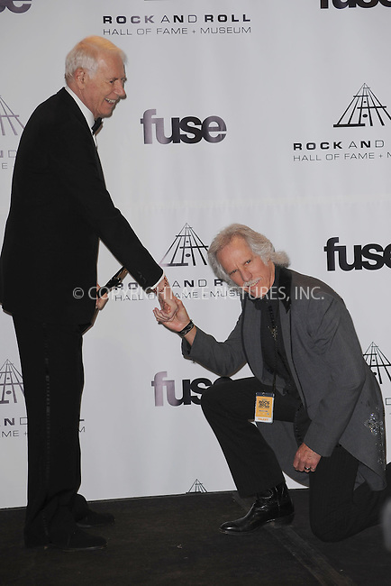 WWW.ACEPIXS.COM . . . . . .March 14, 2011...New York City...Jac Holzman and  John Densmore in the press room at the 26th annual Rock and Roll Hall of Fame Induction Ceremony at The Waldorf Astoria on March 14, 2011 in New York City.....Please byline: KRISTIN CALLAHAN - ACEPIXS.COM.. . . . . . ..Ace Pictures, Inc: ..tel: (212) 243 8787 or (646) 769 0430..e-mail: info@acepixs.com..web: http://www.acepixs.com .