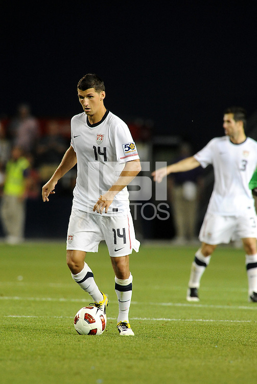 Eric Lichaj USMNT...USMNT defeated Guadeloupe 1-0 in Gold Cup play at LIVESTRONG Sporting Park, Kansas City, Kansas.