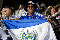 El Salvador fans celebrate the arrival of El Salvador National Team Captain Ramon Sanchez to the Earthquakes roster. The San Jose Earthquakes tied DC United 2-2 at Buck Shaw Stadium in Santa Clara, California on July 25, 2009.