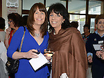 Sylvia Smith and Michelle Grendon pictured at the Class of '83 school reunion at Our Lady's College Greenhills. Photo:Colin Bell/pressphotos.ie