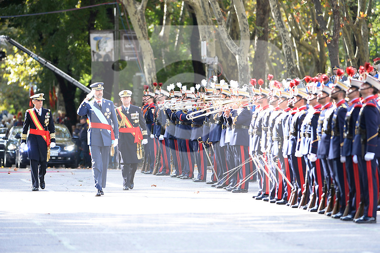King Felipe VI of Spain attend Spain's National Day Military Parade. October 12 ,2014. (ALTERPHOTOS/Pool)