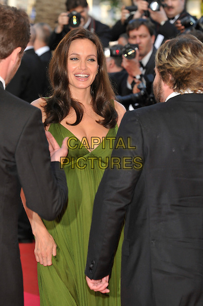 "ANGELINA JOLIE.""Kung Fu Panda"" Gala Premiere at the 61st Annual International Cannes Film Festival, Cannes, France, 15 May 2008..half length green dress pregnant  .CAP/PL.© Phil Loftus/Capital Pictures"
