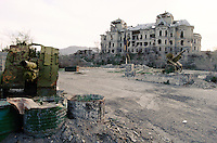 The destroy Darulaman Palace..The weekend house of the Afghan king and is family have been sever time in the middle of two Mudjahedin group, fight for the capital.