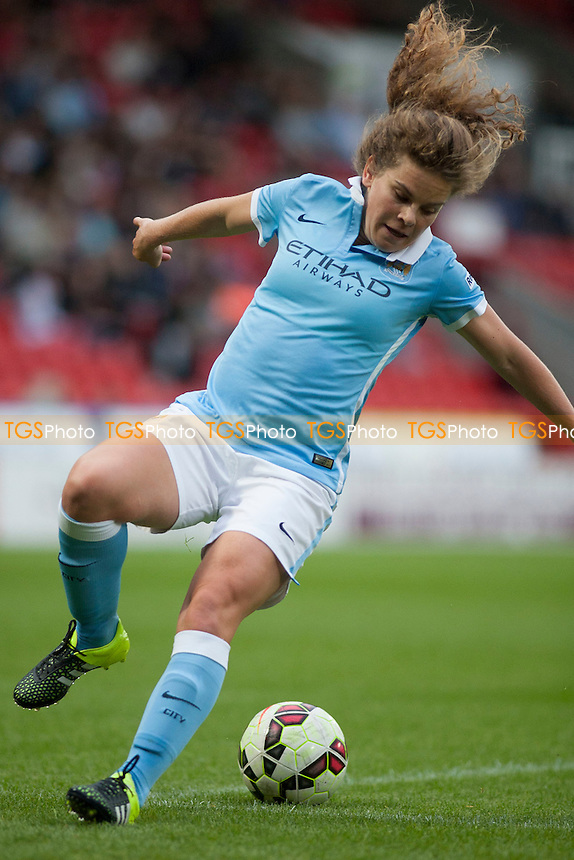 Daphe Corboz (Man City Women)<br /> Doncaster Rovers Belles vs Manchester City Women, FA Womens Super League Continental Tyres Cup Football at the Keepmoat Stadium, Stadium Way, Doncaster, West Riding of Yorkshire on 23/07/2015 - MANDATORY CREDIT: Mark Hodsman/TGSPHOTO