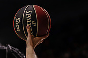 25th March 2018, Madrid, Spain; Endesa Basketball League, Real Madrid versus Valencia; The league official ball of the match
