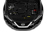 Car Stock 2019 Nissan Maxima SV 4 Door Sedan Engine  high angle detail view