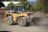 Pictured: A digger operates at the second site in Kos, Greece. Saturday 15 October 2016<br />