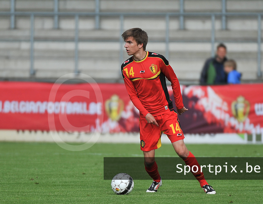 Scotland U19 - Belgium U19 : Cedric Buekers.foto DAVID CATRY / Nikonpro.be