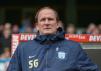 Preston North End manager Simon Grayson <br /> <br /> Photographer Alex Dodd/CameraSport<br /> <br /> The EFL Sky Bet Championship - Huddersfield Town v Preston North End - Friday 14th April 2016 - The John Smith's Stadium - Huddersfield<br /> <br /> World Copyright &copy; 2017 CameraSport. All rights reserved. 43 Linden Ave. Countesthorpe. Leicester. England. LE8 5PG - Tel: +44 (0) 116 277 4147 - admin@camerasport.com - www.camerasport.com