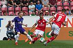 12.05.2018, OPEL Arena, Mainz, GER, 1.FBL, 1. FSV Mainz 05 vs SV Werder Bremen<br /> <br /> im Bild<br /> Florian Kainz (Werder Bremen #07) im Duell / im Zweikampf mit Giulio Donati (FSV Mainz 05 #02), Levin &Ouml;ztunali / Oetztunali (FSV Mainz 05 #08), <br /> <br /> Foto &copy; nordphoto / Ewert