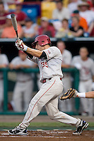 Ogle, Tyler 1596.jpg in Game 8 of the NCAA Division One Men's College World Series on Monday June 22nd, 2010 at Johnny Rosenblatt Stadium in Omaha, Nebraska.  (Photo by Andrew Woolley / Four Seam Images)