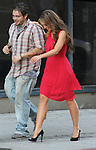 OCTOBER 26TH 2012 <br /> <br /> Jennifer Love Hewitt laughing smiling showing off her legs looked hot &amp; sexy in a red dress while filming the tv show client list in Los Angeles <br /> <br /> AbilityFilms@yahoo.com<br /> 805 427 3519 <br /> www.AbilityFilms.com