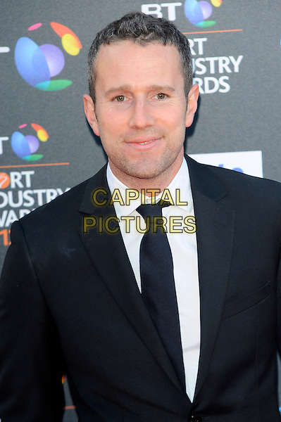 Max Rushden.attends the BT Sports Industry Awards at Battersea Evolution in London, England, UK, May 2nd 2013..portrait headshot black suit tie white shirt .CAP/CJ.©Chris Joseph/Capital Pictures.