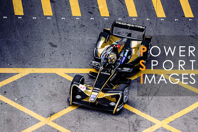 Ma Qing Hua of Techeetah Racing team during the first stop of the FIA Formula E Championship HKT Hong Kong ePrix at the Central Harbourfront Circuit on 9 October 2016, in Hong Kong, China. Photo by Marcio Rodrigo Machado / Power Sport Images