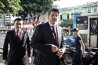 SAO PAULO, SP - 01.01.2016 - HADDAD-SP - O prefeito Fernando Hadda participa da cerim&ocirc;nia de inaugura&ccedil;&atilde;o do Posto do Centro Judici&aacute;rio de Solu&ccedil;&atilde;o de Conflitos e Cidadania Central - CEJUSC - no bairro da Liberdade, na tarde desta sexta-feira (01) na regi&atilde;o central de S&atilde;o Paulo. Junto com ele estavam presentes o Juiz Ricardo Pereira, presidente da CEJUSC, Desembargador Jose Roberto Neves Amorim e Paulo Dimas  Mascaretti. <br /> <br /> (Foto: Fabricio Bomjardim / Brazil Photo Press)