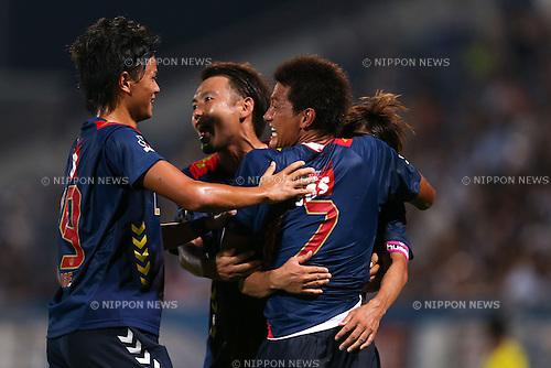 FC/Yokohama FC team group, <br /> JULY 26, 2014 - Football /Soccer : <br /> 2014 J.LEAGUE Division 2 <br /> between Yokohama FC 4-0 Jubilo Iwata <br /> at NHK Spring Mitsuzawa Football Stadium, Kanagawa, Japan. <br /> (Photo by AFLO SPORT) [1205]