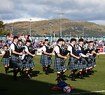 Pipes and Drums before kick-off as Stirling Albion welcome Rangers to Forthbank