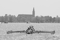Brandenburg. GERMANY. GBR W8+. Bow, Katie GREVES, Melanie WILSON, Frances HOUGHTON, Polly SWANN, Jessica EDDIE, Olivia CARNERIE-BROWN, Karen BENNETT, Zoe LEE and Cox Zoe DE TOLEDO. 2016 European Rowing Championships at the Regattastrecke Beetzsee<br /> <br /> Friday  06/05/2016<br /> <br /> [Mandatory Credit; Peter SPURRIER/Intersport-images]