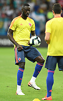 SALVADOR – BRASIL, 15-06-2019: Cristian Zapata de Colombia calienta previo al partido de la Copa América Brasil 2019, grupo B, entre Argentina y Colombia jugado en el Itaipava Fonte Nova Arena de la ciudad de Salvador, Brasil. / Cristian Zapata of Colombia warms up prior the Copa America Brazil 2019 group B match between Argentina and Colombia played at Itaipava Fonte Nova Arena in Salvador, Brazil. Photos: VizzorImage / Julian Medina / Cont / FCF
