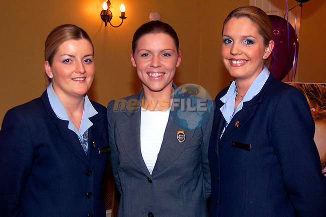 Margaret O Neill and Michelle O Keffe from Hckeys with Susan Lynch Christian Diore, in The Westcourt Hotel....Pic Tony Campbell/Newsfile