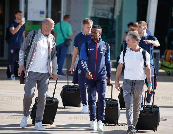 22.06.2019 Rangers arrive in Portugal: Gary McAllister and Jermain Defoe