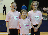 17th November 2013; Abbey Tarrent, Saoirse Hogan and Molly Dagg. She's Ace - Women in handball event, Breaffy House Sports Arena, Castlebar, Co Mayo. Picture credit: Tommy Grealy/actionshots.ie.