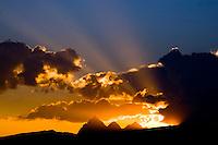 Sunrise over the Grand Tetons in Teton Valley Idaho