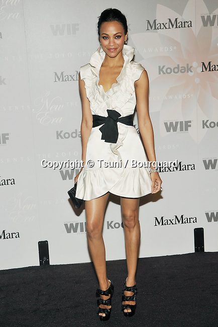 Zoe Saldana _26   -<br /> Women In Film - 2010 Crystal - Lucy Awards at the Hyatt Regency Century Plaza Hotel In Los Angeles.