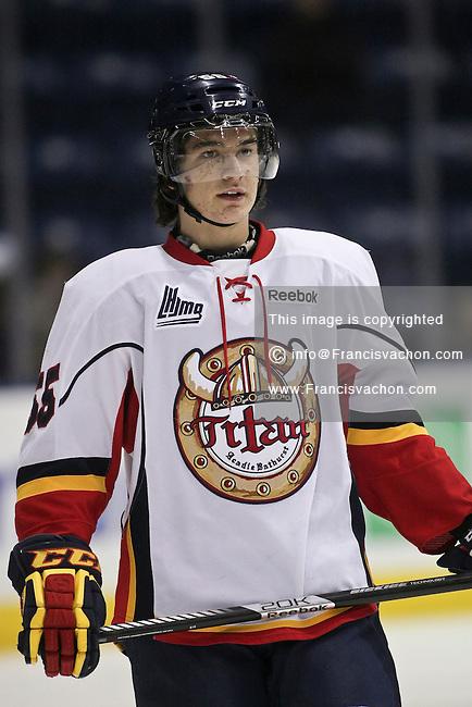 QMJHL (LHJMQ) hockey profile photo on Acadie-Bathurst Titan Giovanni Fiore November 21, 2012 at the Colisee Pepsi in Quebec city.