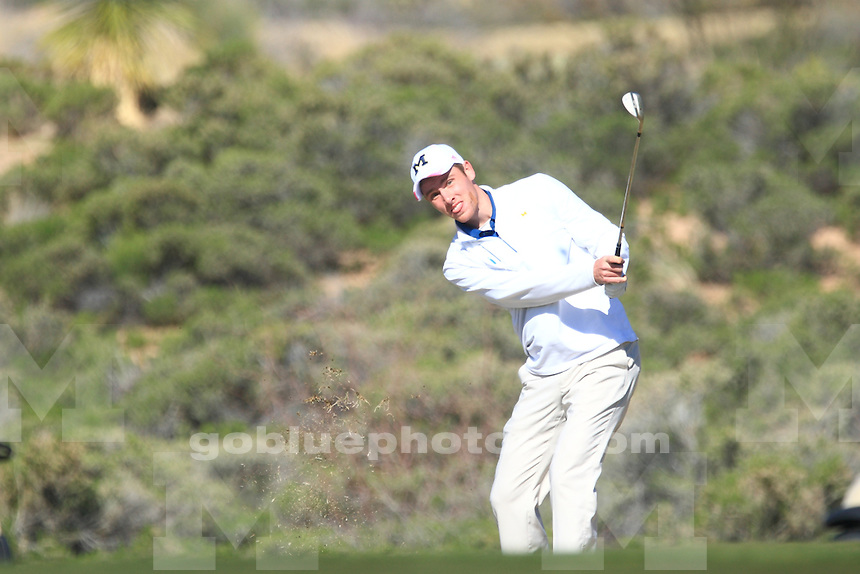 The University of Michigan men's golf team compete at the 2015 Desert Mountain Intercollegiate at the Desert Mountain Golf Club, Scottsdale, AZ. March 6, 2015