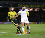 Watford's Mario Suarez tussles with Leicester City's Danny Drinkwater<br /> <br /> - English Premier League - Watford vs Leicester City  - Vicarage Road - London - England - 5th March 2016 - Pic David Klein/Sportimage