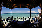 A view of the Sulu sea from our Chalet on Friday May 3rd 2013 in Sandakan, Malaysia. (Photo by Brian Garfinkel)