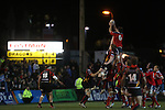 Munster flanker Billy Holland wins the line out ball.<br /> RaboDirect Pro12<br /> Newport Gwent Dragons v Munster<br /> Rodney Parade - Newport<br /> 29.11.13<br /> &copy;Steve Pope-SPORTINGWALES