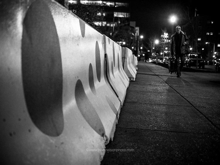 Kusama dots on the night walk, Washington, DC 2017