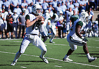 October 22, 2016 - Colorado Springs, Colorado, U.S. -   Hawaii quarterback, Dru Brown #19, and the Rainbow Warriors dominate the passing game during the NCAA Football game between the University of Hawaii Rainbow Warriors and the Air Force Academy Falcons, Falcon Stadium, U.S. Air Force Academy, Colorado Springs, Colorado.  Hawaii defeats Air Force in double overtime 43-27.