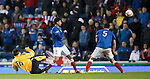 David Gray blasts in the equalising goal for Montrose