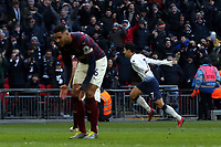 Son Heung-Min of Tottenham Hotspur celebrates scoring the first goal during Tottenham Hotspur vs Newcastle United, Premier League Football at Wembley Stadium on 2nd February 2019